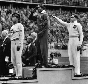 Jesse Owen at Berlin Olympics 1936