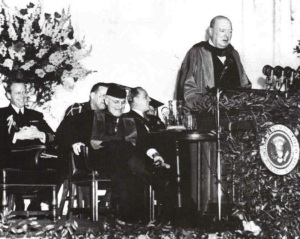 "Churchill's ""Iron Curtain"" speech in 1946"