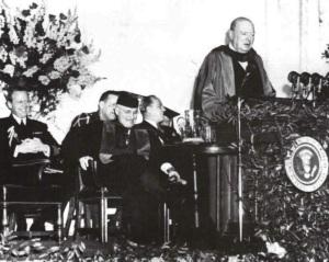 """Churchill's """"Iron Curtain"""" speech in 1946"""